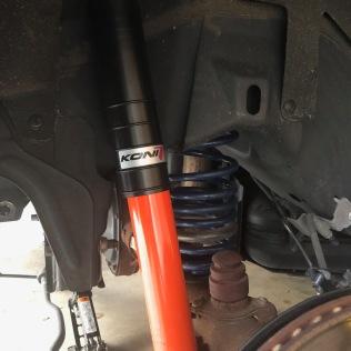 New Koni Orange rear shocks and S&R lowering springs