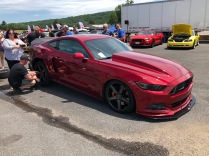 Beautiful S550 - suffered a little rear end damage in the burnout competition though