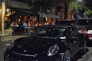 A poorly composed, slightly out of focus picture of what I believe was a Porsche 911 GT2