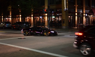 Spotted a Lamborghini Huracan downtown. Don't mind the blurriness