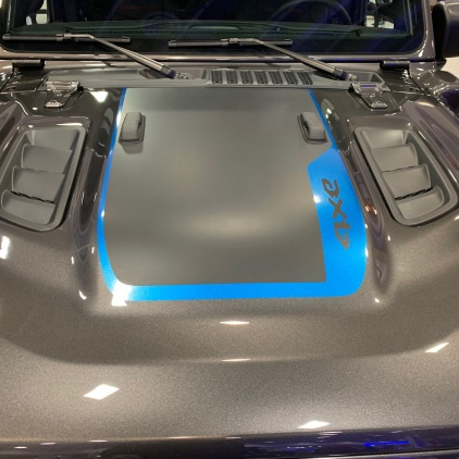 Pretty beastly looking hood. Those vents look very similar to the ones on my Mustang's hood