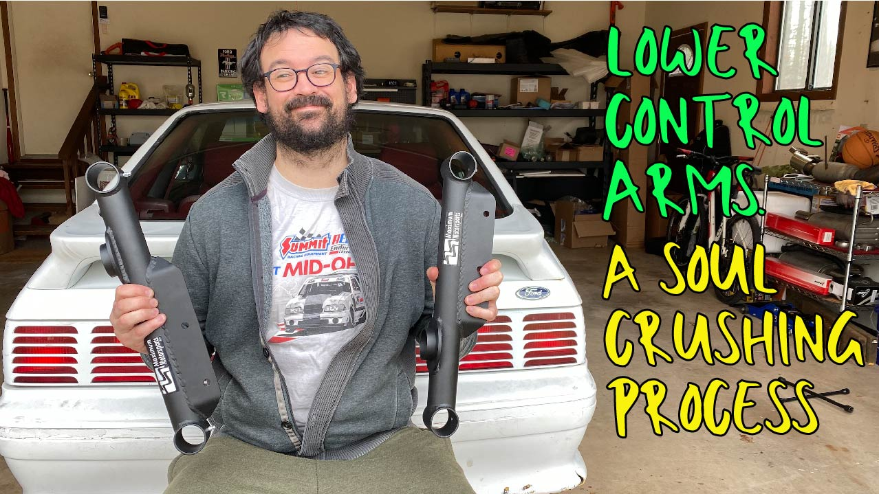 New Video: Fox Mustang Lower Control Arms Installation
